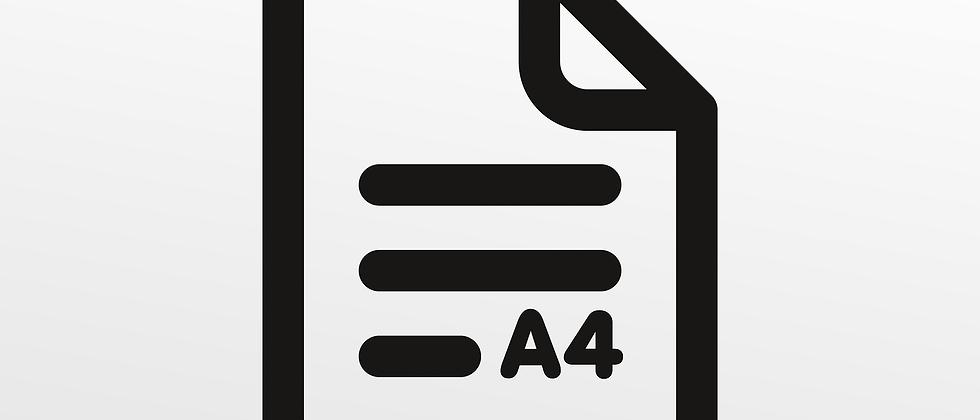 DIN A4 100 g/m2, sw, 1-seitig