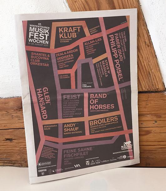Grafik, Gestaltung, Satz, Bildbearbeitung, Programmzeitung 2017, Winterthurer Musikfestwochen