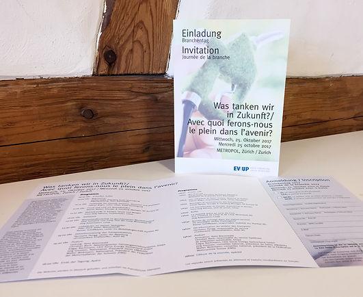 Konzept, Gestaltung, Satz, Bildbearbeitung, Einladung Branchentag 2017, Erdöl-Vereinigung