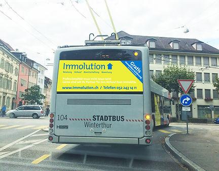 Gestaltung, Satz, Fahrzeugbeschriftung, Buswerbung, Immolution GmbH
