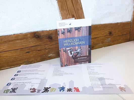 Gestaltung, Satz, Bildbearbeitung, Produktionskoordination, Willkommensbroschüre, Evangelisch-reformierte Kirchgemeinde Winterthur-Mattenbach