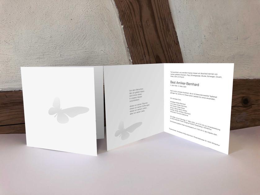 Trauerkarte / Trauerzirkular