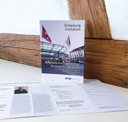 Konzept, Gestaltung, Satz, Bildbearbeitung, Einladung Mitgliederversammlung 2017, Erdöl-Vereinigung