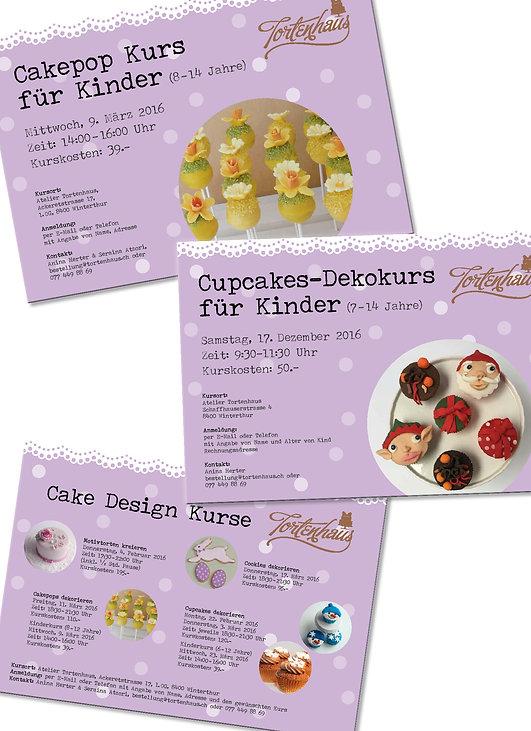 Gestaltung, Satz, Bildbearbeitung, Flyer, Kursflyer, Tortenhaus GmbH