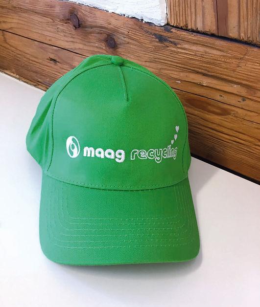 Produktrechercher, Gestaltung, Produktionskoordination, Jubiläum, Cap, Jubiläumscap, Werbegeschenk, Maag Recycling AG