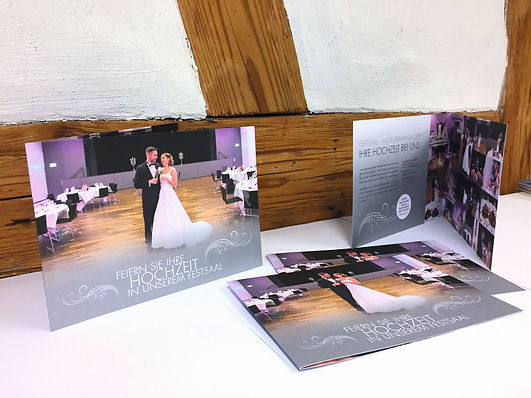 Grafik, Gestaltung, Produktionskoordination, Hochzeits Flyer, Eventssaal, Festsaal, Hotel Banana City Winterthur