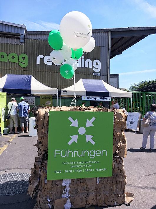 Grafik, Gestaltung, Produktionskoordination, Jubiläums Treffpunkt Tafel, Maag Recycling AG