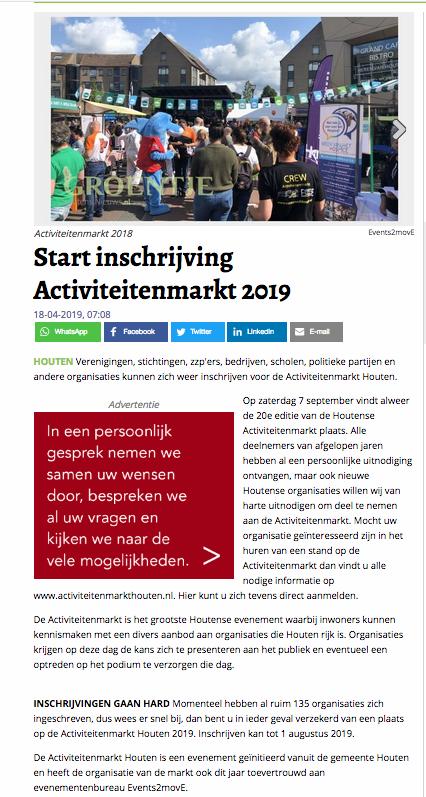 Activiteitenmarkt 2019