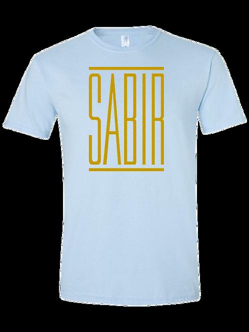 """""""Sabir"""" T-Shirt Light Blue w/ Gold"""