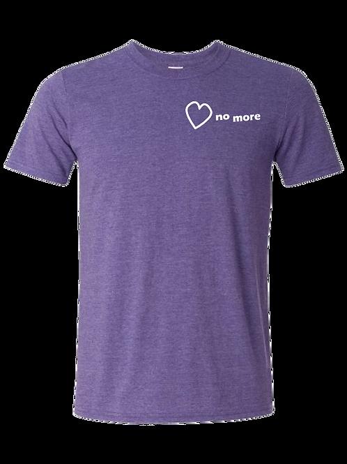"""Heart No More"" Tshirt Heather Purple"