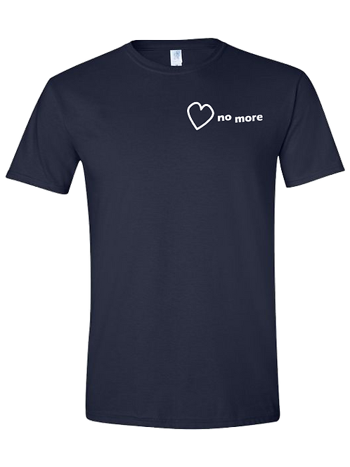 """Heart No More"" Tshirt Navy Blue"
