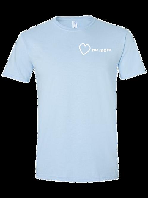 """Heart No More"" Tshirt Light Blue"