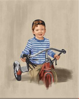 Charles on His Bike