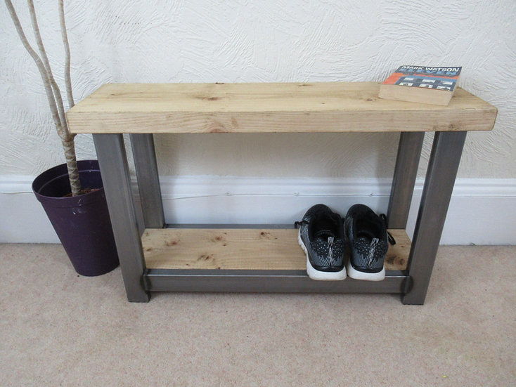 568: Shoe rack bench seat for hallway or porch