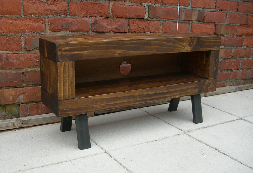 240: Slim chunky tv stand enclosed back industrial