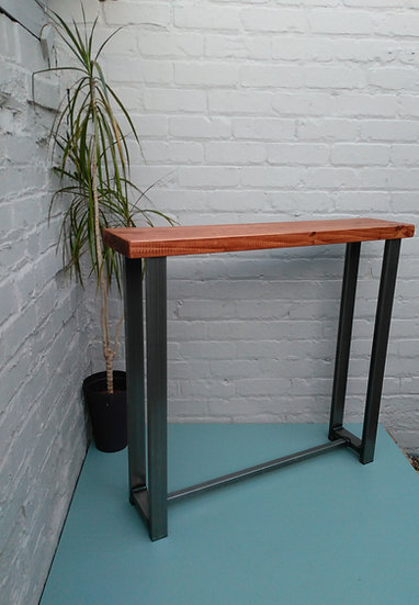 204: Console table industrial chic wood & metal