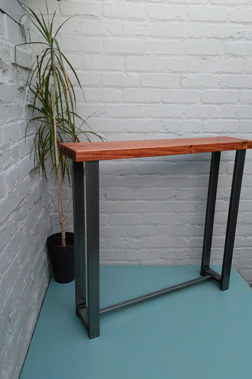 Console table industrial chic wood and metal