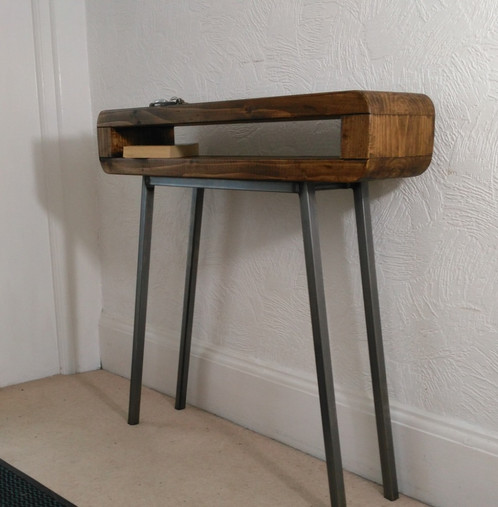 Beau 306: Console Table Narrow Retro Style Rustic Industrial