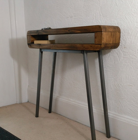 306: Console table Narrow retro style rustic industrial