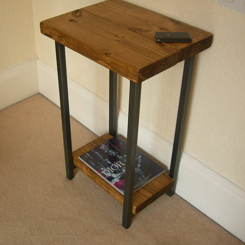 238 :Small hallway console table rustic industrial