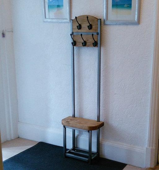 334: Slim Coat stand double coat rack