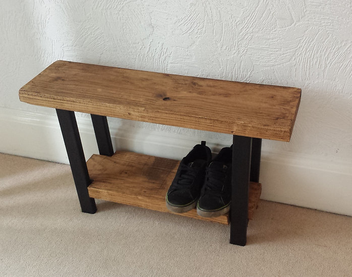 174 -industrial shoe rack bench