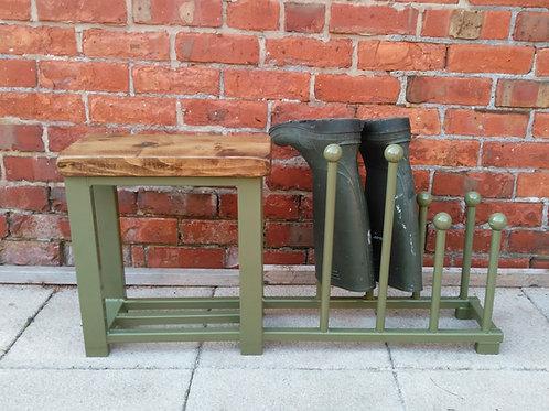 258 : Boot & welly rack hallway storage bench