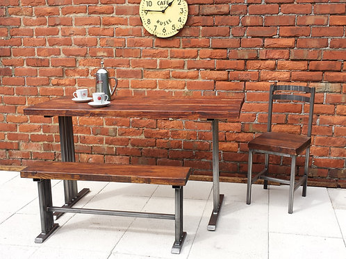 188 -Dining table with bench  art deco style