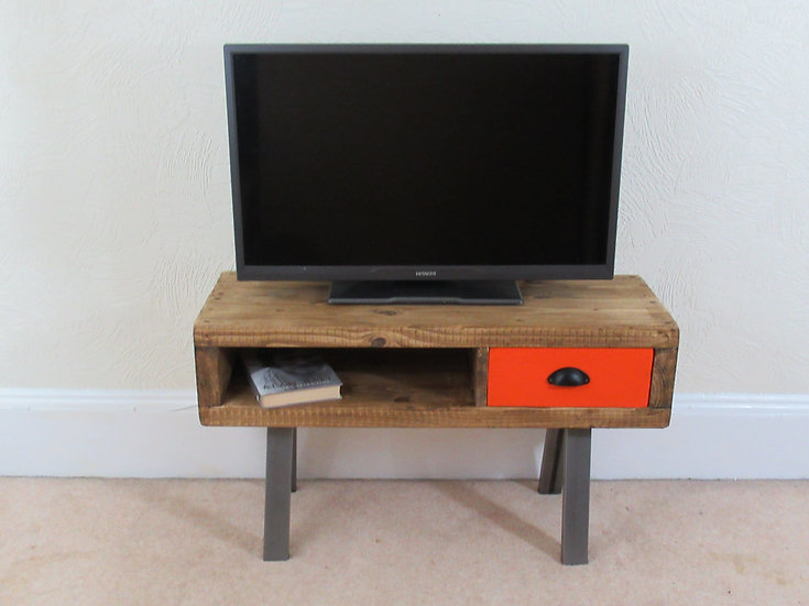 494 - Tv stand, tv unit, contemporary tv cabinet with drawer