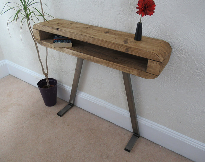 510: Side table, Slim Retro hallway table, Console table industrial style,