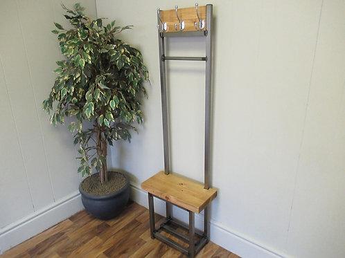 519 : Coat stand narrow hallway coat rack bench seat & hanging rail