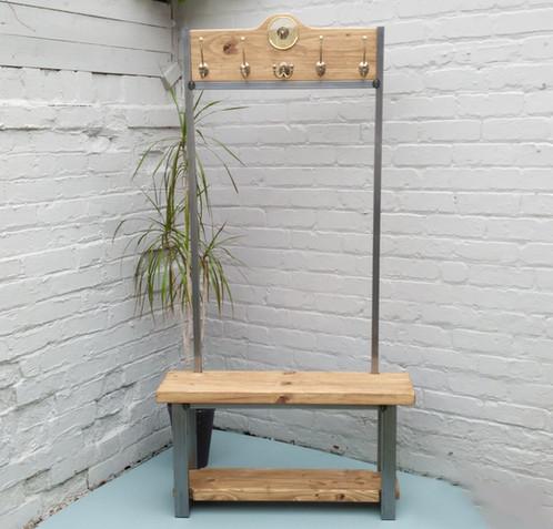Hallway Coat Stand Freestanding Hat Coat Rack With Barometer Custom Free Standing Coat Rack With Shelf