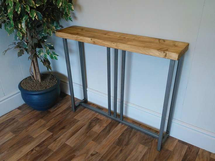 586 : Console table slim tall hallway table