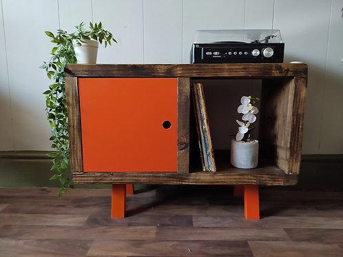 649 :  Vinyl record storage, mid century, LP storage, tv stand with cupboard