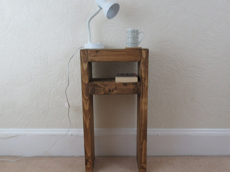 507 : Lamp table tall, Slim console table, rustic table