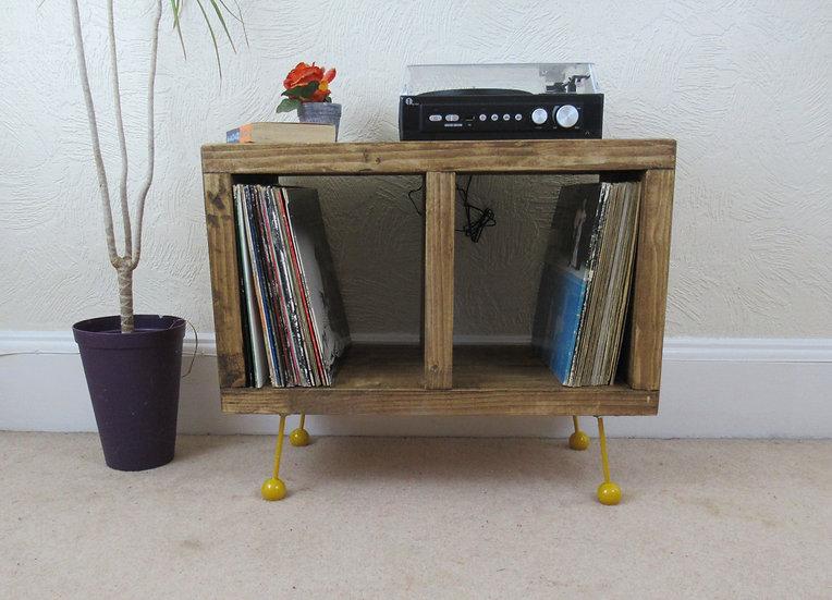 523 :  Vinyl record store, retro atomic ball feet, mid century, tv stan