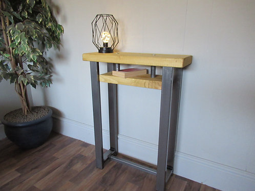 597 : Console table bijou size with small shelf contemporary style