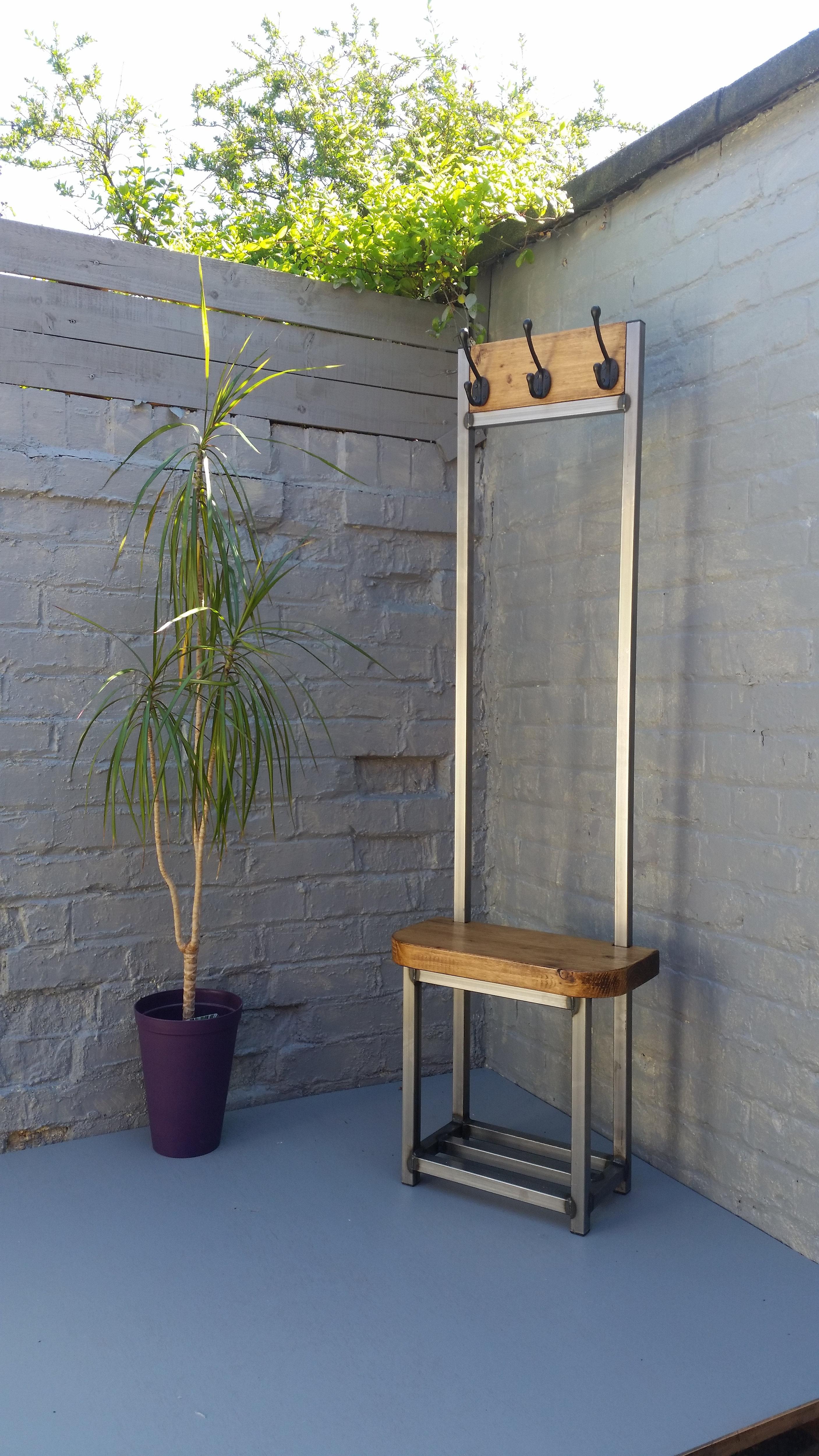 324 Coat Stand Narrow Hallway Bijou Coat Rack Bench Seat And Shoe Storage Ideal