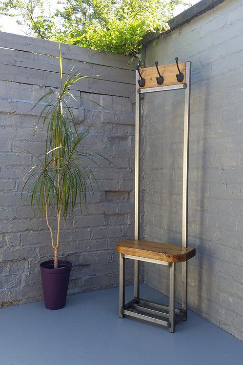 324: Coat stand narrow hallway bijou coat rack bench seat and shoe storage ideal