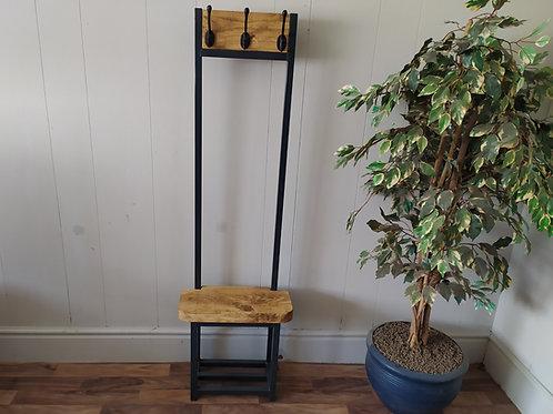 627 : Coat stand slim hallway bijou coat rack in Anthracite