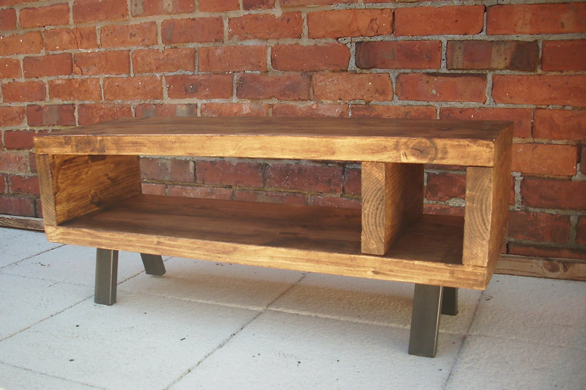224: Tv stand Rustic industrial / tv table cabinet