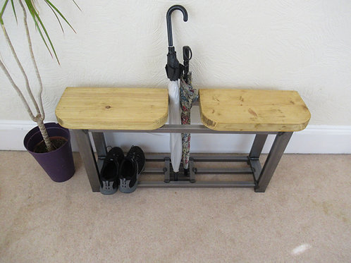 C : Hallway bench double seat and umbrella stand