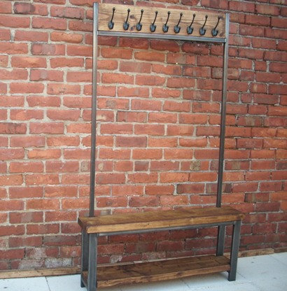 214: Wide hallway coat stand
