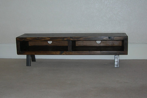 233: Tv stand large contemporary enclosed back