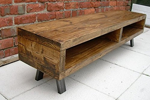227 : Large Tv stand contemporary rustic industrial