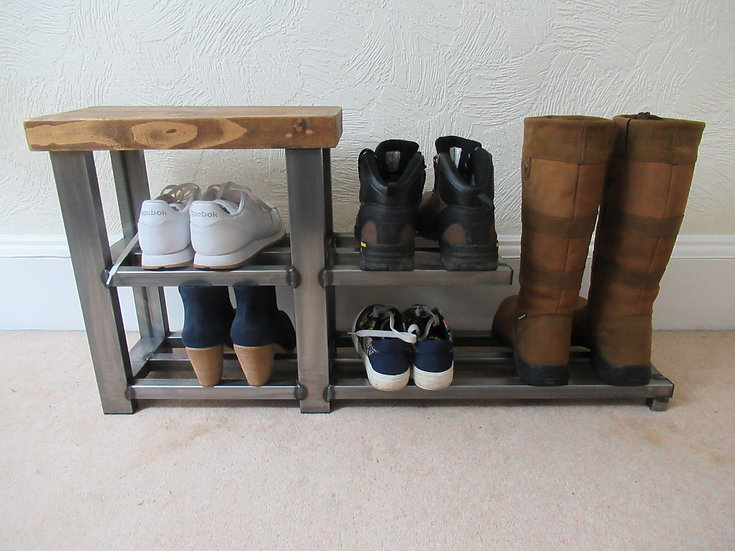 547: Shoe & tall boot rack floating shelf, various colours