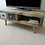 Thumbnail: 580 - Tv stand contemporary style with two drawers