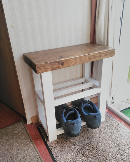 511 : Caravan shoe rack bench,2 shelf hallway bench, static or lodge homes