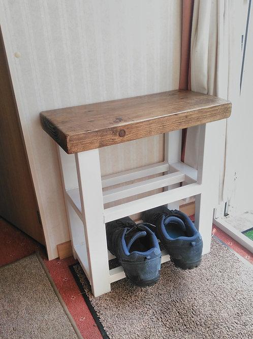 511 : Caravan shoe rack bench,2 shelf hallway bench, static or lodge homes