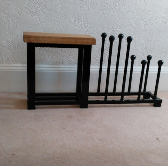 341 : Welly and Boot rack hallway bench in White or Black